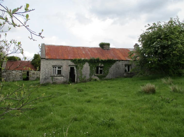 On The Market From Matt Duggan Auctioneer: Derelict Stone Cottage & Stone Outbuildings On C. 10 Acres
